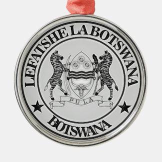 Botswana Round Emblem Metal Ornament