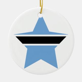 Botswana Star Ceramic Ornament