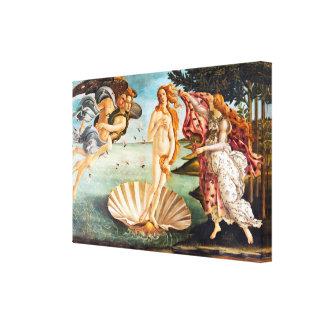 Botticelli Birth of Venus Restored Recolored Canvas Print