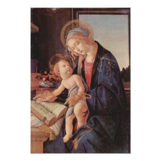 Botticelli-Madonna teaches the child Jesus Poster