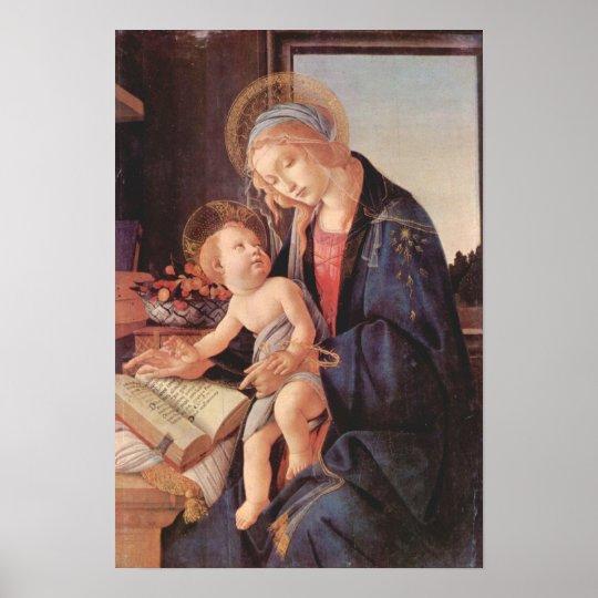 Botticelli-Madonna teaches the child Jesus Poster