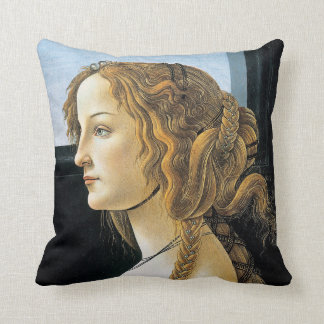 Botticelli Portrait of a Young Woman Throw Pillow