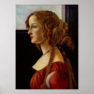 Botticelli-Portrait of Simonetta Vespucci Poster