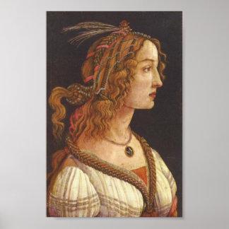 Botticelli-Portrait of young Simonetta Vespucci Poster