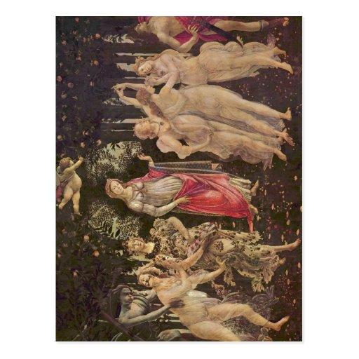 Botticelli, Sandro Fr?hling (Primavera) :  um 1485 Postcards