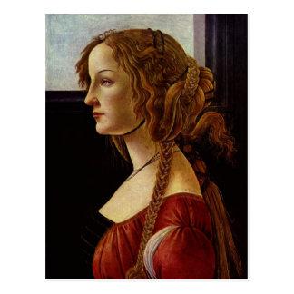 Botticelli, Sandro Portr?t der Simonetta Vespucci  Postcard