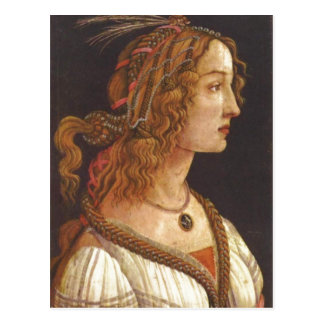 Botticelli, Sandro Portr?t einer jungen Frau (Simo Postcard
