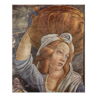 Botticelli-Sistine Chapel -The youth of Moses 3 Poster