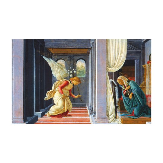 Botticelli The Annunciation Canvas Print