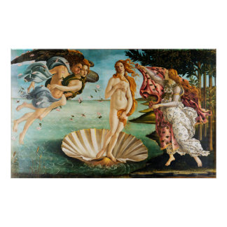 BOTTICELLI - The birth of Venus 1483 Poster
