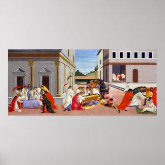 Botticelli Three Miracles of Saint Zenobius Poster