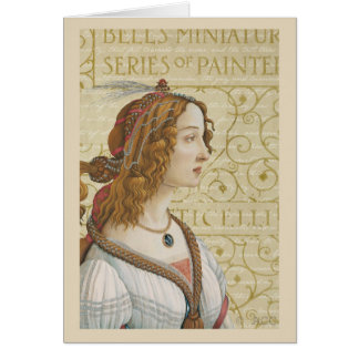 Botticelli Woman Card