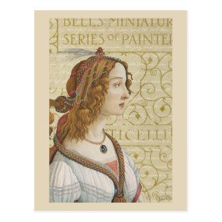 Botticelli Woman Postcard
