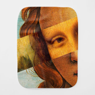 Botticelli's Venus and Mona Lisa Burp Cloth