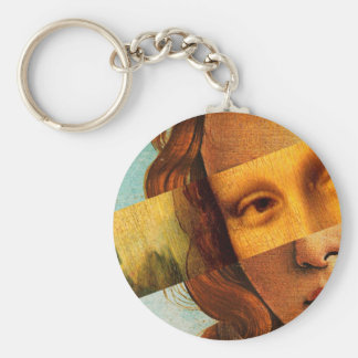 Botticelli's Venus and Mona Lisa Keychain