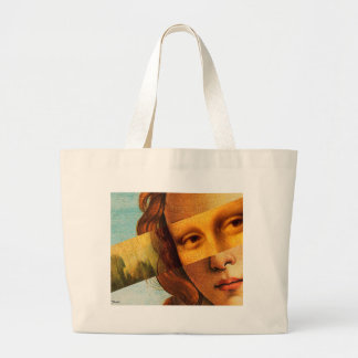 Botticelli's Venus and Mona Lisa Large Tote Bag