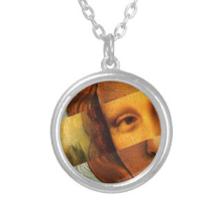Botticelli's Venus and Mona Lisa Silver Plated Necklace