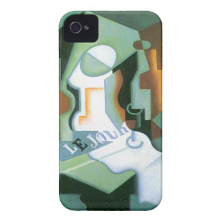 Bottle and Fruit Dish by Juan Gris, Vintage Cubism iPhone 4 Cases