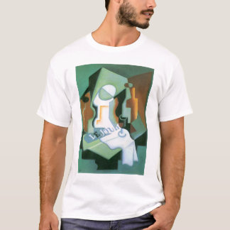 Bottle and Fruit Dish by Juan Gris, Vintage Cubism T-Shirt