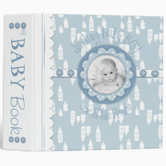 Bottle and Pacifier Baby Memory Book Vinyl Binders