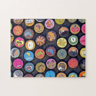 Bottle Beer Caps of Africa. Puzzle