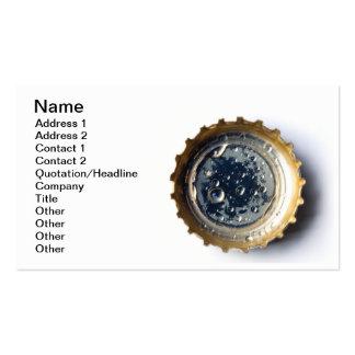 Bottle cap business card templates