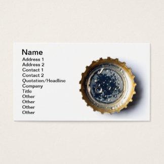 Bottle cap business card