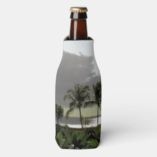 BOTTLE COOLER/PALM TREES AND SILVERY OCEAN AT DUSK BOTTLE COOLER