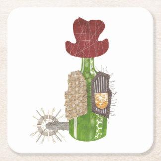 Bottle Cowboy Custom Coaster