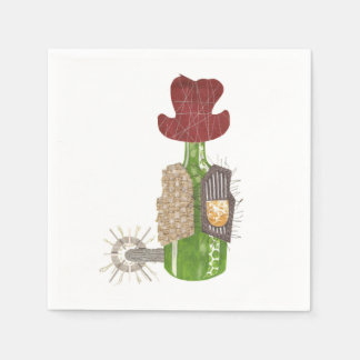 Bottle Cowboy Napkins Disposable Napkin