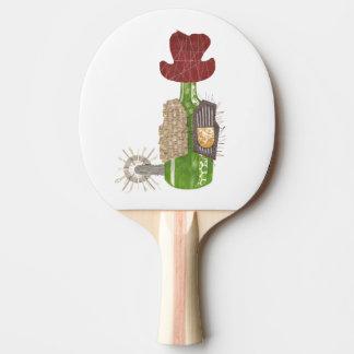 Bottle Cowboy Ping Pong Bat Ping Pong Paddle