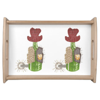 Bottle Cowboy Serving Tray