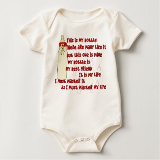 Bottle Creed Red Baby Bodysuit