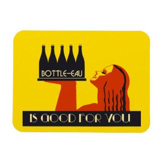 Bottle-eau retro style art deco magnet