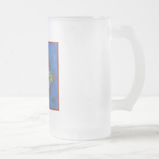 Bottle Fish Frosted Glass Beer Mug