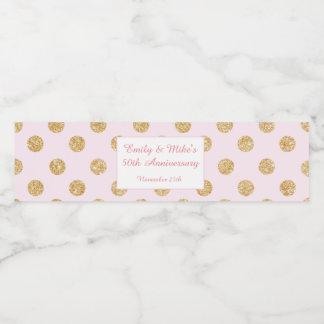 Bottle Label Gold Blush Pink Wedding Anniversary