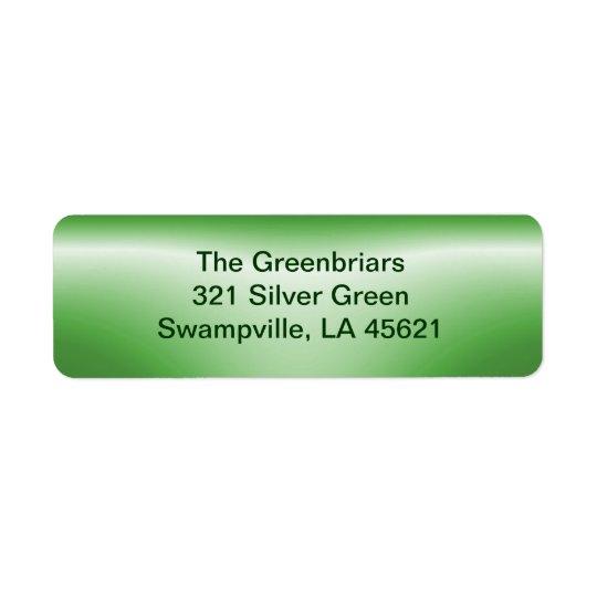 Bottle Neck green ~ label Return Address Label