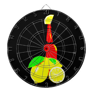 Bottle of Beer and Lemons Dartboard