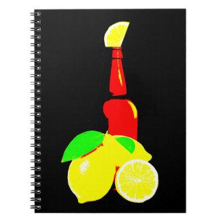 Bottle of Beer and Lemons Notebook