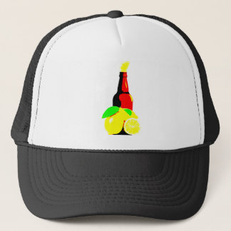 Bottle of Beer and Lemons Trucker Hat