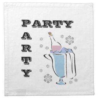 Bottle of Bubbly Party Napkins