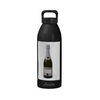 Bottle of Champagne with blank label Drinking Bottles