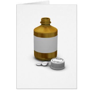 Bottle Of Tablets Greeting Cards