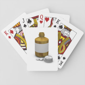 Bottle Of Tablets Playing Cards