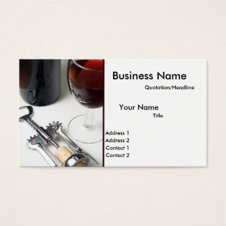 Bottle of Wine Business Cards