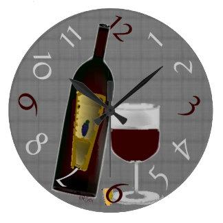 Bottle of Wine Large Clock
