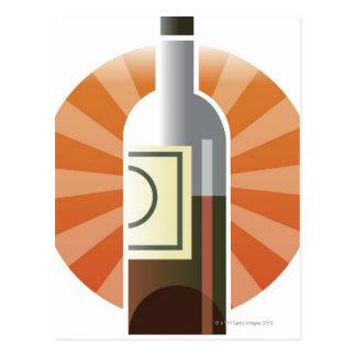 Bottle of Wine Postcard
