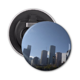 Bottle Opener (Houston Texas) Button Bottle Opener