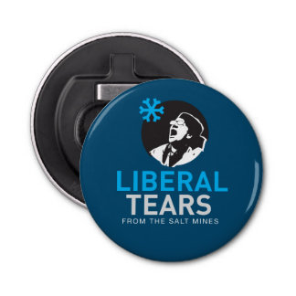 Bottle Opener Liberal Tears Navy Button Bottle Opener