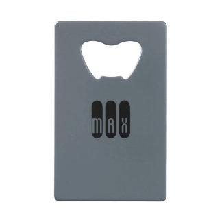 Bottle Opener With Credit Card Design Credit Card Bottle Opener